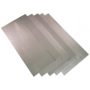 Precision Brand® 16969 Flat Sheet Shim Stock, 12 in L x 8 in W x 0.025 in Thk, 1008-1010 Full Hard Steel, 5/Pkg