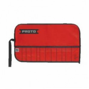 Proto® J25TR02C Tool Roll, 12 Pockets, For Use With J2S2 Punch and Chisel Set, Canvas/Vinyl, Red