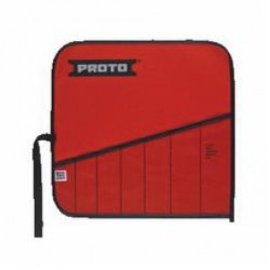 Proto® J25TR03C Tool Roll, 7 Pockets, Canvas/Vinyl, Red