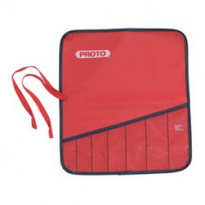 Proto® J25TR04C Back Tool Pouch, 5 Pockets, For Use With J1100G Box Wrench Set, Canvas, Red