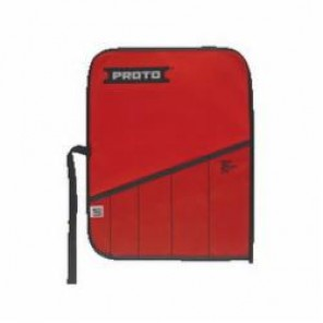 Proto® J25TR06C Tool Roll, 5 Pockets, Canvas/Vinyl, Red