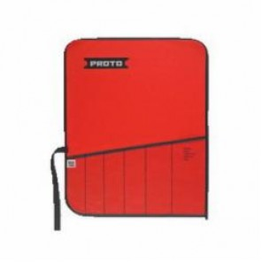 Proto® J25TR19C Tool Roll, 6 Pockets, For Use With J8100C Box Wrench Set, Canvas/Vinyl, Red