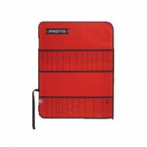 Proto® J25TR21C Tool Roll, 26 Pockets, For Use With J46S2 Punch and Chisel Set, Canvas/Vinyl, Red