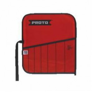Proto® J25TR23C Tool Roll, 7 Pockets, For Use With J86BS2 Cold Chisel Set, Canvas/Vinyl, Red