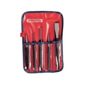 Proto® J3 Punch and Chisel Set, 5 Pieces, 5/8 in Chisel, 1/8 - 5/8 in Punch, Hardened Steel