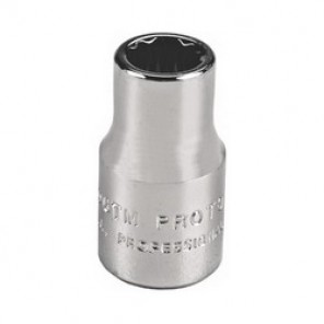 Proto® TorquePlus™ J4708TM Metric Standard Length Drive Socket, 12 Point Socket, 1/4 in Square Drive, 8 mm Socket