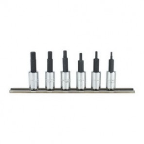 Proto® J4770-6 6-Point Metric Socket Bit Set, 6 Pieces, 1/4 in Square Drive, Hex Bit, Forged Alloy Steel, Full Polished