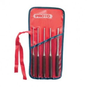 Proto® J48005L Long Tether-Ready Drive Pin Punch Set, 5 Pieces, Tool Steel