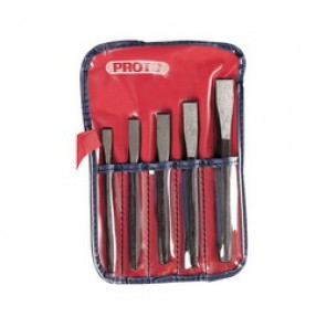 Proto® J86C Cold Chisel Set, 5 Pieces, 5/16 - 5/8 in Chisel, Hardened Steel