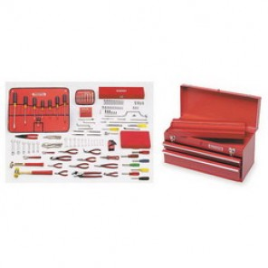 Proto® J99101 SAE Small Master Tool Set With Tool Box, 131 Pieces, For Use With 5/64 - 3/4 in Fasteners, 1/4 in Drive