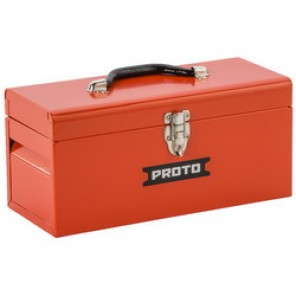 Proto® J9954-NA General Purpose Portable Tool Box With Removable Steel Tote Tray, 6-1/2 in H x 14 in W x 6 in D