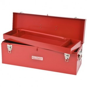 Proto® J9969-NA General Purpose Portable Tool Box With Removable Steel Tote Tray, 9-1/2 in H x 26 in W x 8-1/2 in D