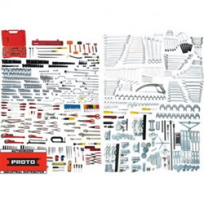 Proto® JCS-1046MAS Metric/SAE Technician Maintenance Tool Set, 1046 Pieces
