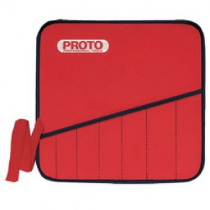 Proto® JSCR9SP Heavy Duty Tool Pouch, 9 Pockets, For Use With JSCR-9S Non-Reversing Combination Wrench Set, Canvas, Red