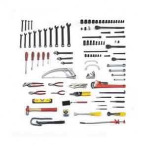 Proto® JTS-0107RR SAE Railroad Pipe Fitter's Tool Set, 107 Pieces, For Use With 3/8 - 1-1/4 in Fasteners