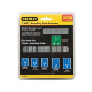 Stanley® TRA700BN35 Heavy Duty Narrow Crown Staple/Brad Assortment, 1/4 in, 5/16 in, 3/8 in, 1/2 in, 9/16 in Leg Length