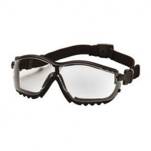 Pyramex® GB1810ST Protective Goggles, Universal, Framed Black Frame, Anti-Fog, Scratch-Resistant Clear Lens