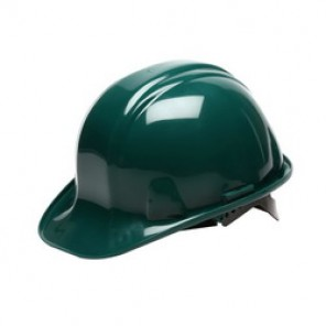 Pyramex® HP14035 Front Brim Hard Hat, 6-1/2 - 8 in, Green, 4-Point Nylon Snap Lock Suspension, High Density Polyethylene