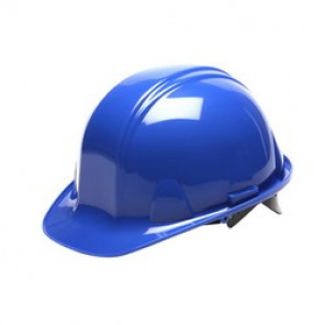 Pyramex® HP14060 Front Brim Hard Hat, 6-1/2 - 8 in, Blue, 4-Point Nylon Snap Lock Suspension, High Density Polyethylene