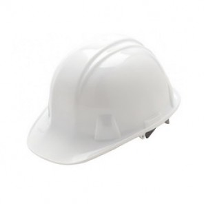 Pyramex® HP14110 Cap Style Hard Hat, 6-1/2 - 8 in, White, 4-Point Nylon Ratchet Suspension, High Density Polyethylene