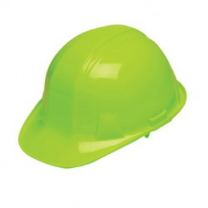 Pyramex® HP14131 Cap Style Hard Hat, 6-1/2 - 8 in, Hi-Viz Lime, 4-Point Nylon Ratchet Suspension, Class C, G, E