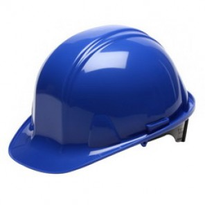 Pyramex® HP16160 Cap Style Hard Hat, 6-1/2 - 8 in, Blue, 6-Point Ratchet Suspension, High Density Polyethylene