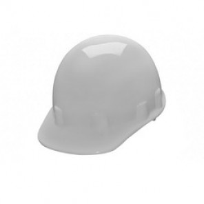 Pyramex® HPS14110 Sleek Shell Cap Style Hard Hat, White, 4-Point Ratchet Suspension, High Density Polyethylene