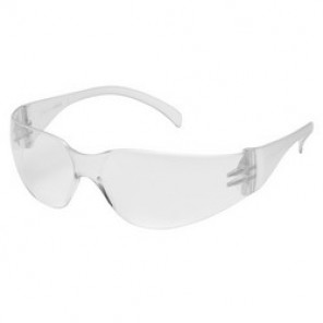 Pyramex® S4110SN Light Weight Protective Glasses, Universal, Frameless, Scratch-Resistant Clear Lens