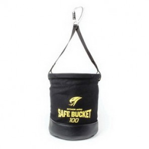 Python® Tools@Height™ BKT-100HLC Safe Bucket, 15 in H x 12-1/2 in W, Canvas, Black/Yellow