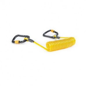 Python® Tools@Height™ EXT-H2HCOIL Hook to Hook Personal Duty Coil Tether, 5 lb, Braided Steel