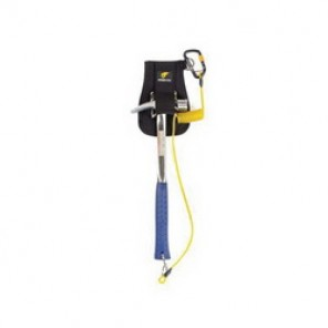 Python® Tools@Height™ EXT-H2QRCOIL Hook to Quick Personal Duty Ring Coil Tether, 2 lb, Braided Steel