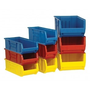 """24"""", 30"""" & 36"""" HULK CONTAINERS, Blue, 24"""" Hulk Containers, Outside Dim. L x W x H: 23-7/8 x 11 x 10"""