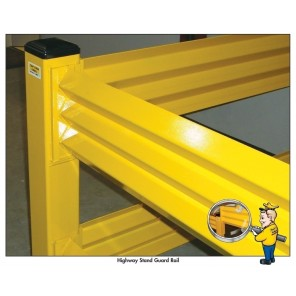 """HIGHWAY STAND GUARD RAIL, Size: 18"""" H., End Post"""