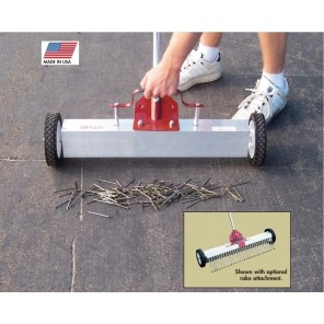 "MULTI-SURFACE MAGNETIC RAKE ON WHEELS, Overall Magnetic Width: 48"", Lifting Power (lbs.): 60, Magnetic Rake on Wheels"