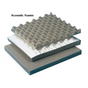 "ACOUSTIC FOAMS, Standard open-cell foam, Size: 50¹L. x 54""W., Coverage Sq. Ft.: 225, Priced: Per Roll"