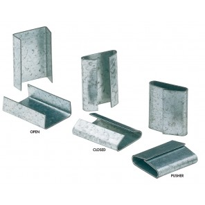 """STEEL STRAPPING SEALS, Seal Closed, Size: 3/8"""", Case Qty.: 2500"""