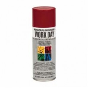 Krylon® WORK DAY™ A04404000 Enamel Spray Paint, 10 fl-oz, Liquid, Red, 9 to 13 sq-ft, 12 min Curing