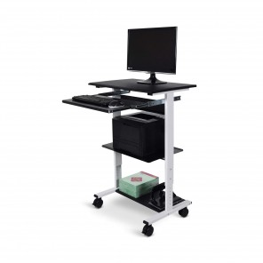 Luxor STAND-WS30 Three-shelf Adjustable Stand Up Workstation