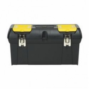 Stanley® 024013S Tool Box With Tray, 11 in H x 11.4 in W x 24 in D, Plastic