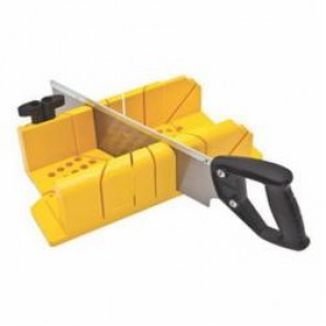Stanley® 20-600 Saw Storage Mitre Box With Saw, For Use With Stanley® 14 in Back Saws, Plastic/Metal, Yellow