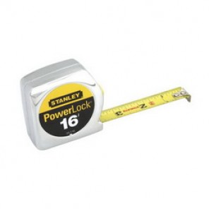 Stanley® 33-116 Tape Rule, 3/4 in W x 16 ft L Blade, Mylar® Polyester Film Coated, Imperial/Metric, 1/16ths, 1/32nds