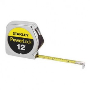 Stanley® 33-212 Tape Rule, 1/2 in W x 12 ft L Blade, Mylar® Polyester Film Coated, Imperial, 1/16ths, 1/32nds