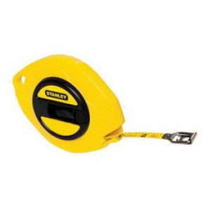 Stanley® 34-103 Long Tape Rule, 3/8 in W x 50 ft L Blade, Polymer Coated Steel, Imperial, 1/8ths