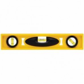Stanley® 42-466 Non-Magnetic I-Beam™ Level, 12 in L x 1 in W x 2.3 in H, 3 Vials, (1) Level, (2) Plumb Vial Positions