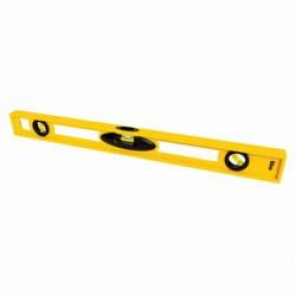 Stanley® 42-468 Non-Magnetic I-Beam™ Level, 24 in L x 1 in W x 2.3 in H, 3 Vials, (1) Level, (2) Plumb Vial Positions