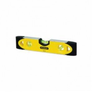 Stanley® 43-511 Magnetic Shock Resistant Torpedo Level, 9 in L x 2.8 in W x 0.8 in H, 3 Vials, Aluminum