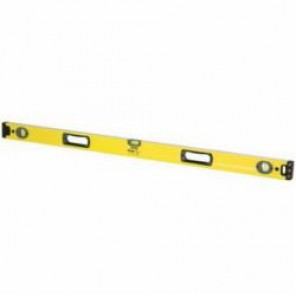 Stanley® FatMax® 43-572 Single Piece Box Beam Level, 72 in L x 2.6 in W x 1.4 in H, 3 Vials, 0.0005 in/in, Aluminum