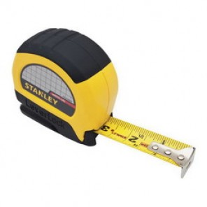 Stanley® LeverLock® STHT30825 Tape Rule, 1 in W x 25 ft L Blade, Steel, SAE