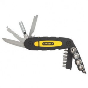 Stanley® STHT70695 Portable Specialty Folding Multi-Tool, Fine Edge Blade Jaw, 14 Tools