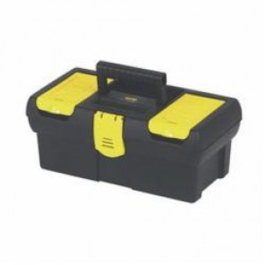 Stanley® STST13011 Tool Box With Tray and Plastic Latch, 5.1 in H x 7 in W, Rubber Handle